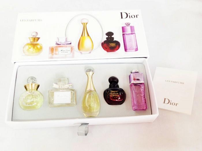 Sét Nước Hoa Nữ 5 Chai Mini 5mill Dior Siêu Thơm