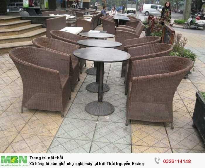 Xã hàng lô bàn ghế nhựa giả mây tại Nội Thất Nguyễn Hoàng0