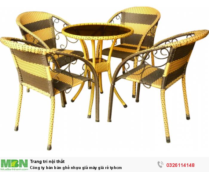 Công ty bán bàn ghế nhựa giả mây giá rẻ tphcm