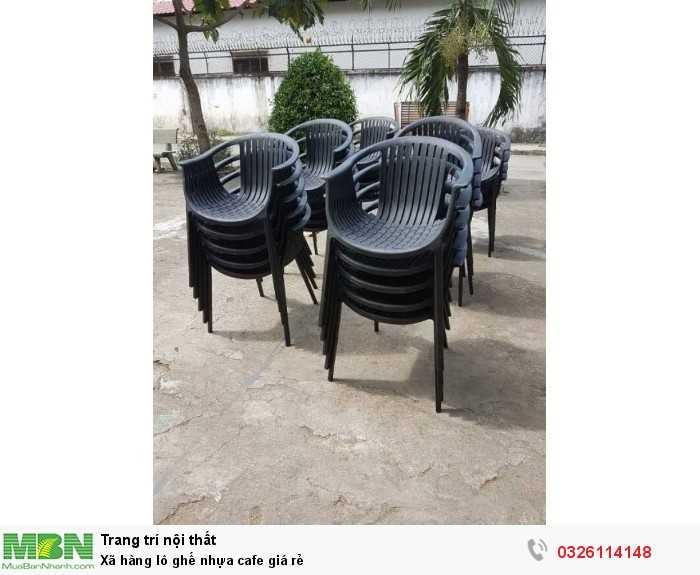 Xã hàng lô ghế nhựa cafe giá rẻ0