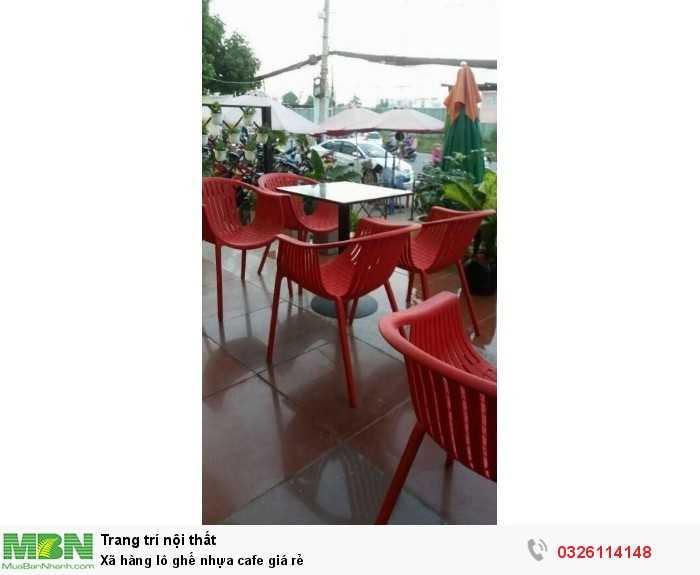 Xã hàng lô ghế nhựa cafe giá rẻ1