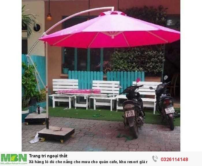 Xã hàng lô dù che nắng che mưa cho quán cafe, khu resort giá rẻ1
