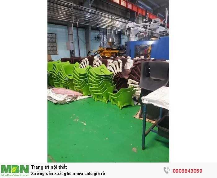 Xưởng sản xuất ghế nhựa cafe giá rẻ0