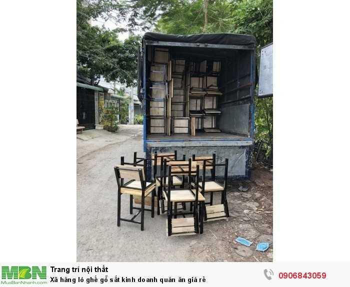 Xã hàng lô ghế gỗ sắt kinh doanh quán ăn giá rẻ0