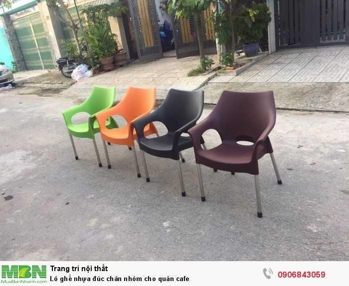 Lô ghế nhựa đúc chân nhôm cho quán cafe