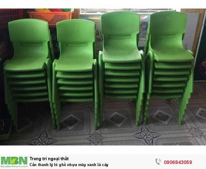 Cần thanh lý lô ghế nhựa mày xanh lá cây