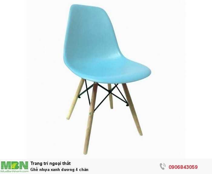 Ghế nhựa xanh dương 4 chân