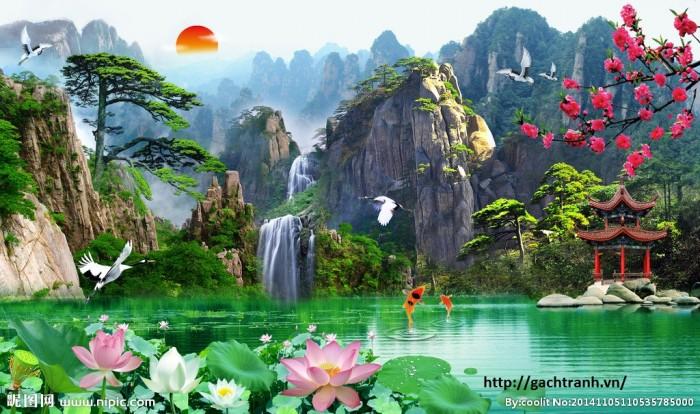 Tranh 3d phong cảnh ốp tường