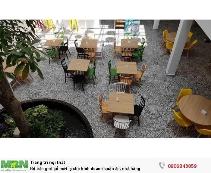 Bộ bàn ghế gỗ mới lạ cho kinh doanh quán ăn, nhà hàng0