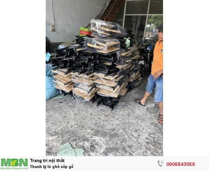 Thanh lý lô ghế xếp gỗ