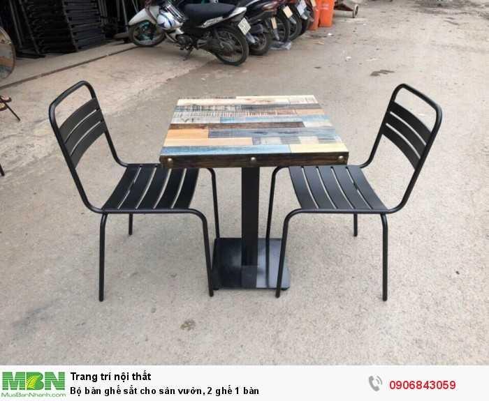 Bộ bàn ghế sắt cho sân vườn, 2 ghế 1 bàn0