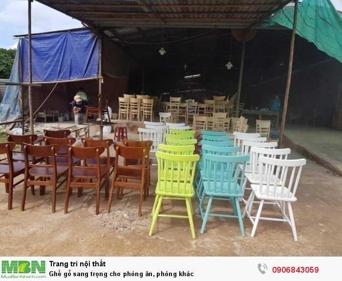Ghế gỗ sang trọng cho phòng ăn, phòng khác0