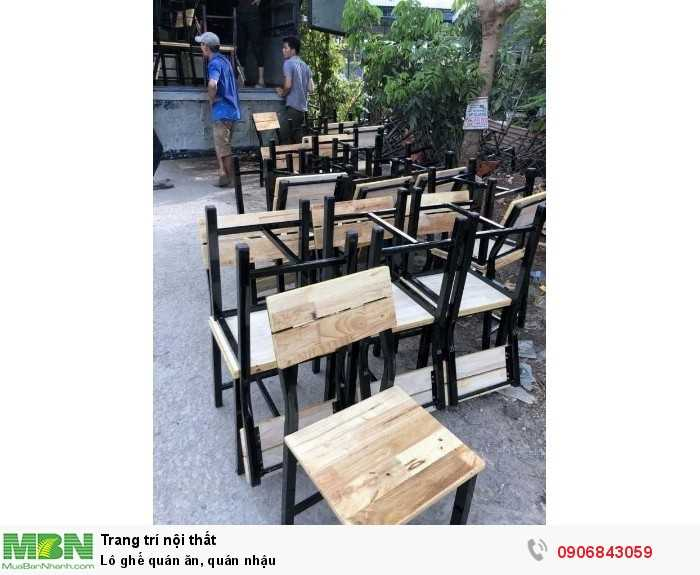 Lô ghế quán ăn, quán nhậu0