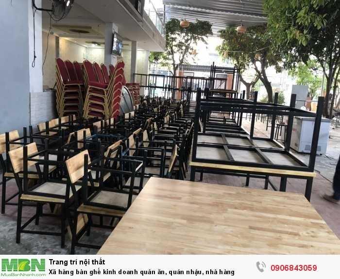 Xã hàng bàn ghế kinh doanh quán ăn, quán nhậu, nhà hàng0