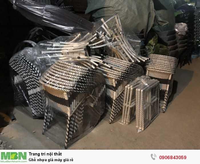 Ghế nhựa giả mây giá rẻ0