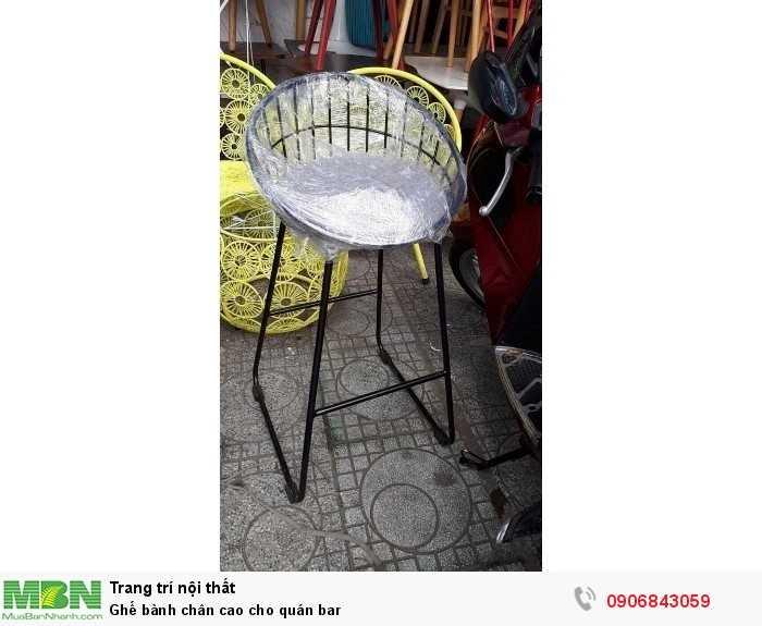 Ghế bành chân cao cho quán bar0