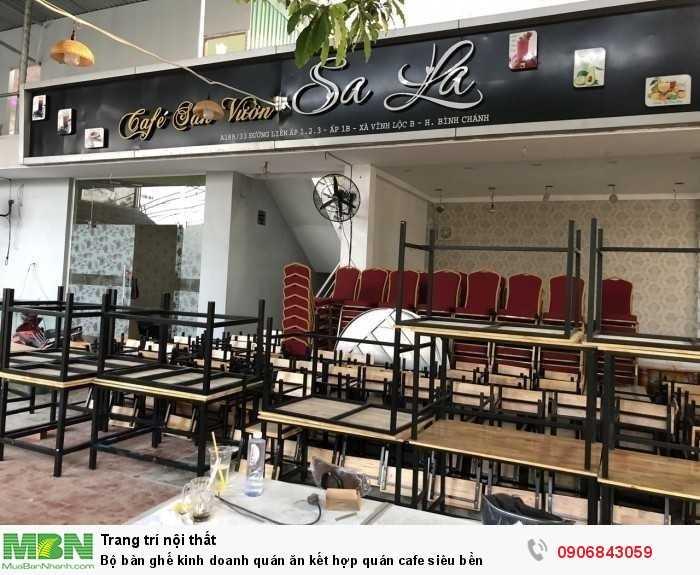 Bộ bàn ghế kinh doanh quán ăn kết hợp quán cafe siêu bền0