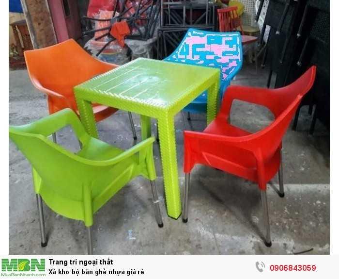 Xả kho bộ bàn ghế nhựa giá rẻ0