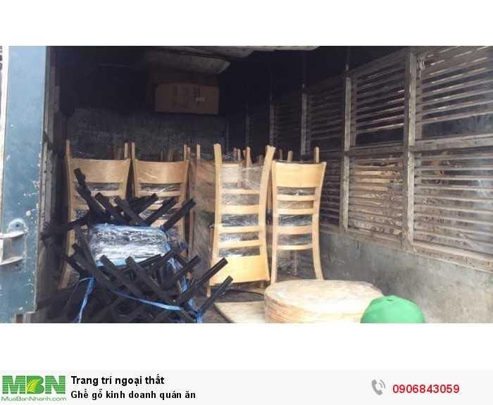 Ghế gỗ kinh doanh quán ăn0