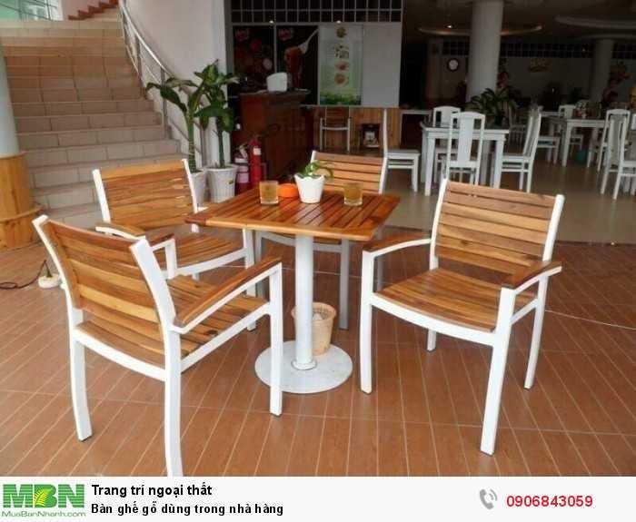 Bàn ghế gỗ dùng trong nhà hàng0