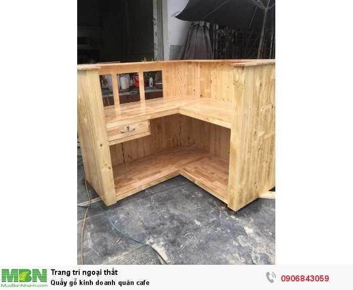 Quầy gỗ kinh doanh quán cafe0