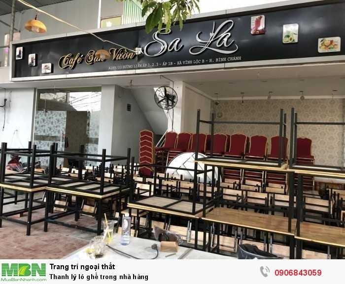 Thanh lý lô ghế trong nhà hàng0