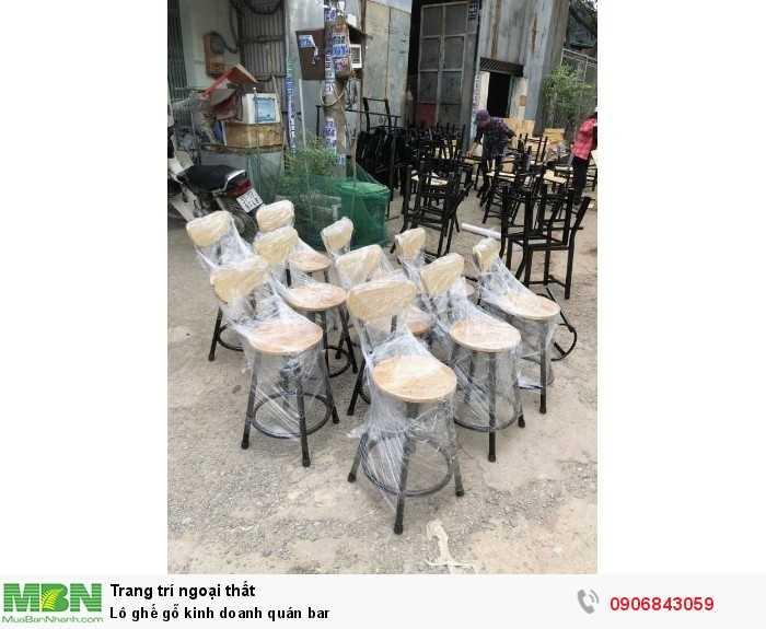 Lô ghế gỗ kinh doanh quán bar0
