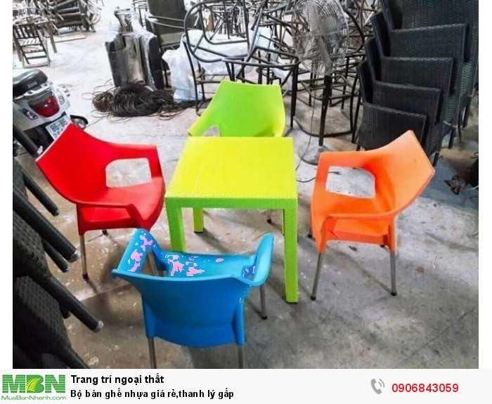 Bộ bàn ghế nhựa giá rẻ,thanh lý gấp0
