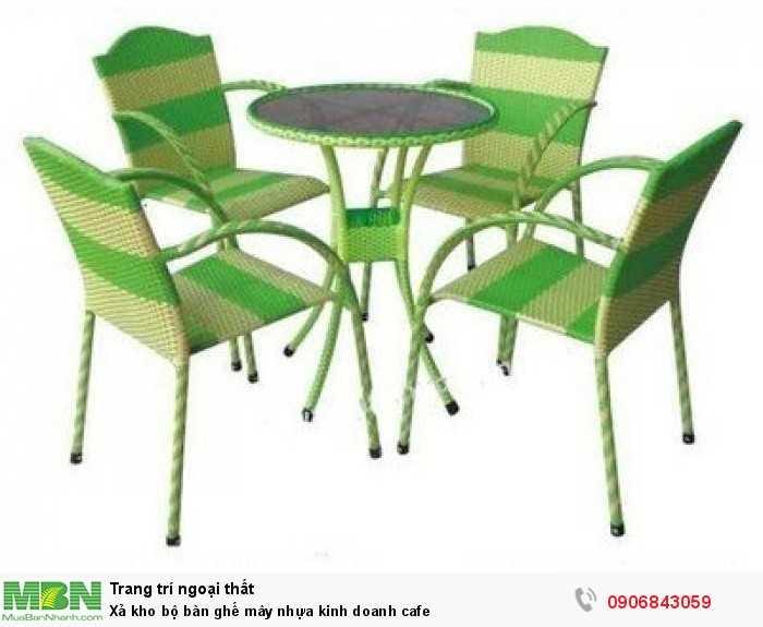 Xả kho bộ bàn ghế mây nhựa kinh doanh cafe0