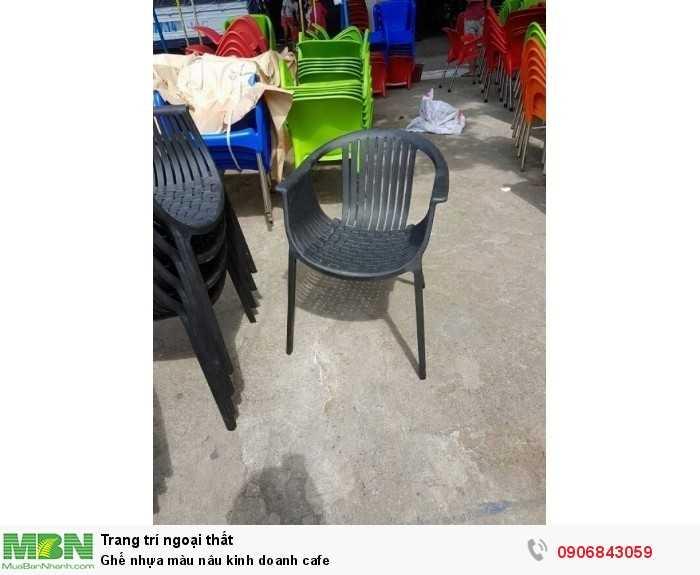 Ghế nhựa màu nâu kinh doanh cafe0