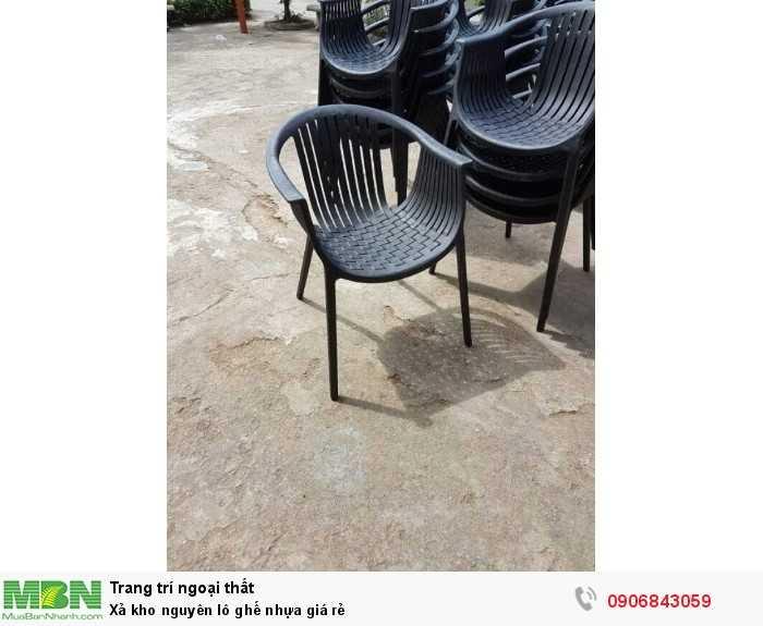 Xả kho nguyên lô ghế nhựa giá rẻ0