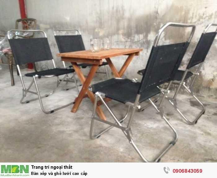 Bàn xếp và ghế lưới cao cấp0