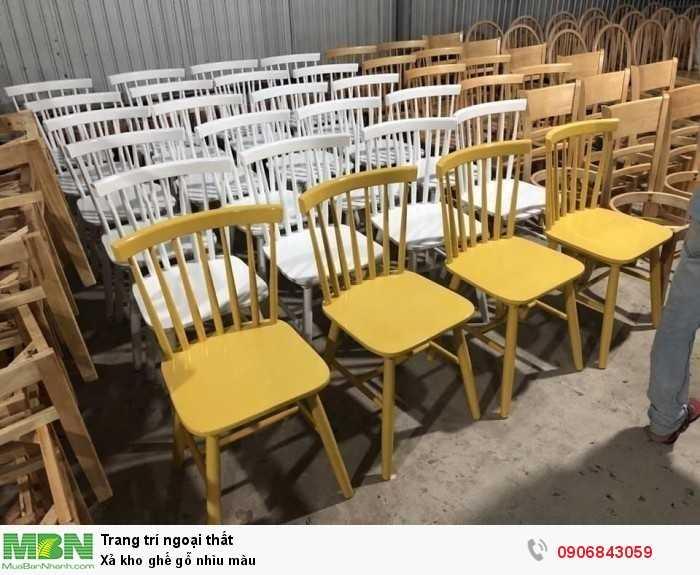Xả kho ghế gỗ nhìu màu0