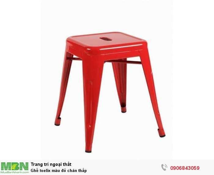 Ghế toelix màu đỏ chân thấp0