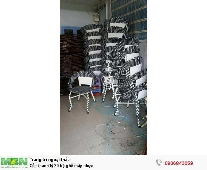 Cần thanh lý 20 bộ ghế mây nhựa0