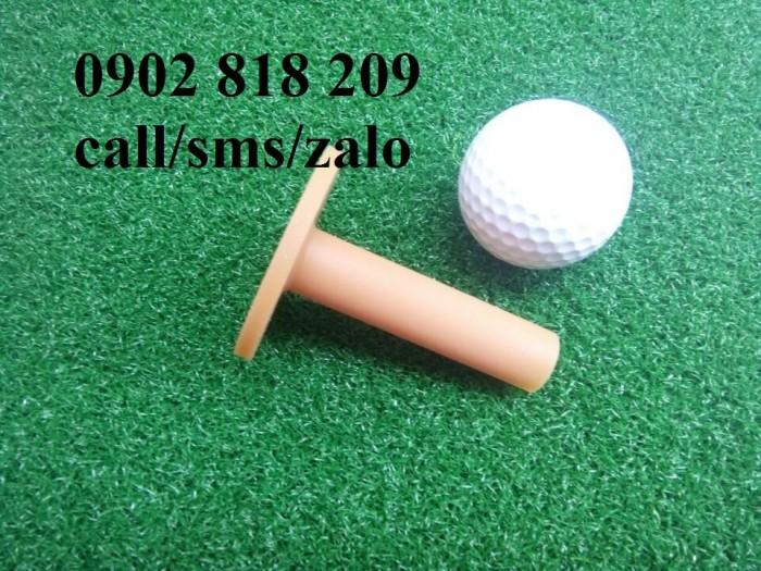 Tee golf cao su màu vàng đế dày