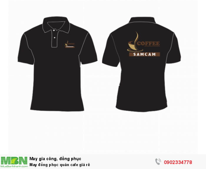 May đồng phục quán cafe giá rẽ