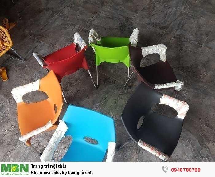 Ghế nhựa cafe, bộ bàn ghế cafe2