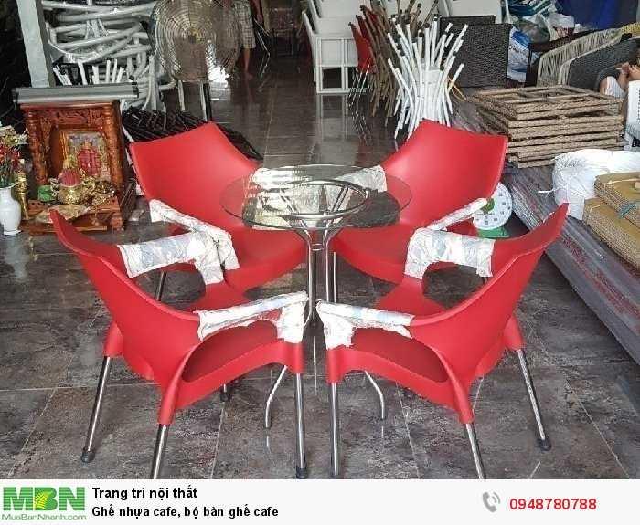 Ghế nhựa cafe, bộ bàn ghế cafe3