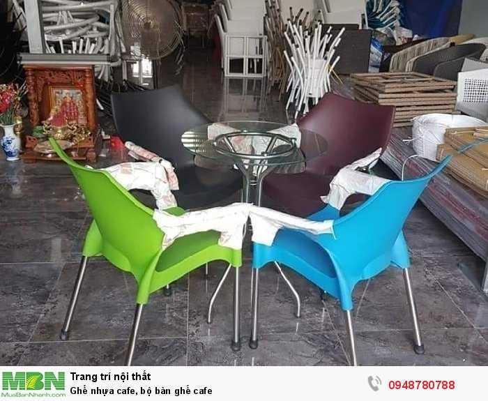 Ghế nhựa cafe, bộ bàn ghế cafe4