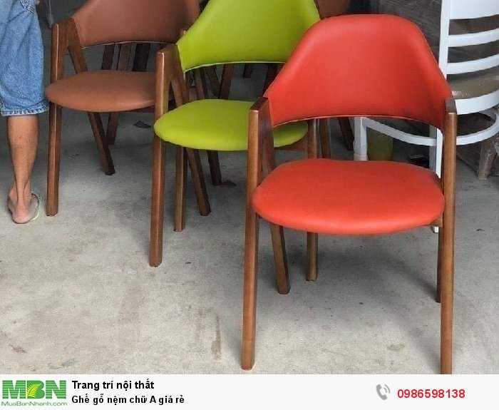 Ghế gỗ nệm chữ A giá rẻ0