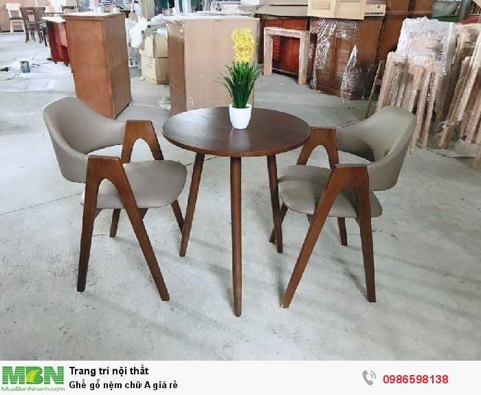 Ghế gỗ nệm chữ A giá rẻ1