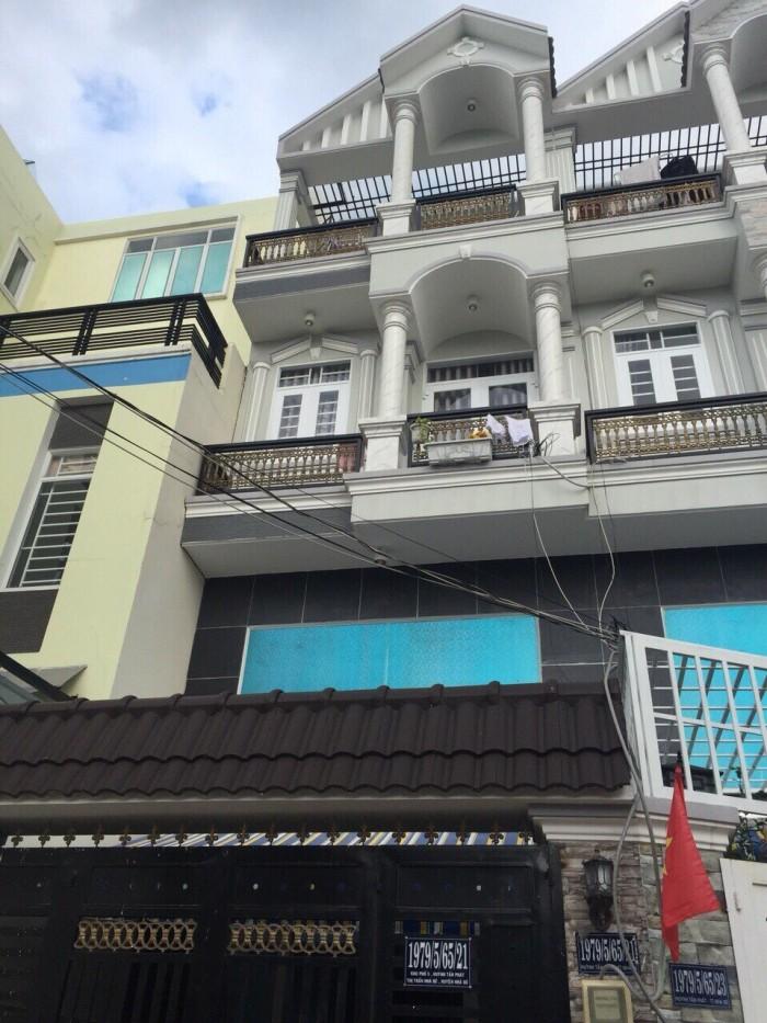 Bán Nhà hẻm 1979 Huỳnh Tấn Phát, Thị Trấn Nhà Bè, DT 4m x 16m, sổ hồng riêng, tặng nội thất
