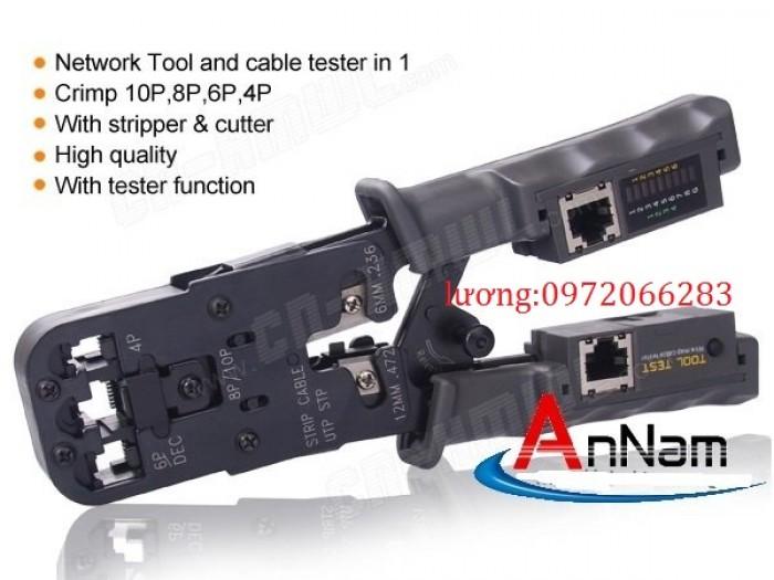 Kìm mạng HT-022 tích hợp bấm và test rj11 12 453