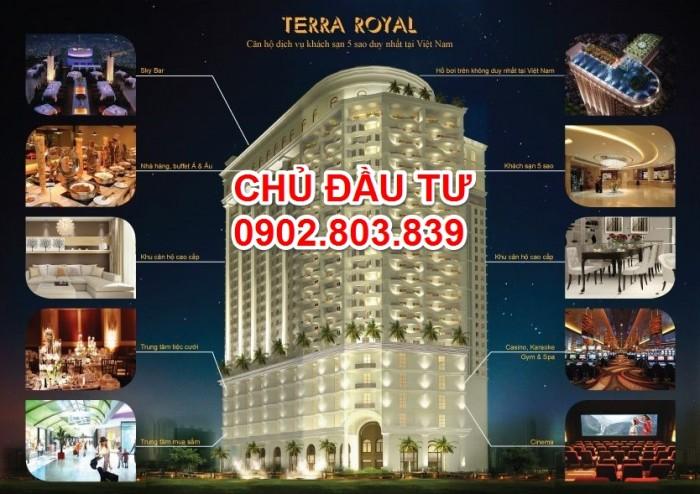 Bán căn hộ Terra Royal khách sạn 5* tại trung tâm quận 3, 2PN nhận ngay Chiết khấu 3%.