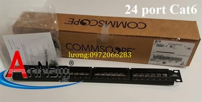 Patch panel 24 port CAT6 COMMSCOPE mã 1375014-21