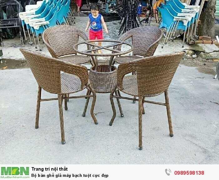 Bộ bàn ghế giả mây bạch tuột cực đẹp2
