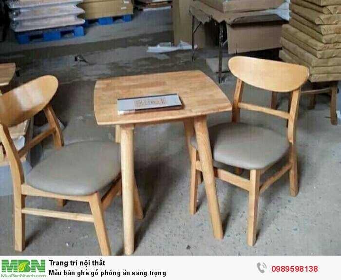 Mẫu bàn ghế gỗ phòng ăn sang trọng0