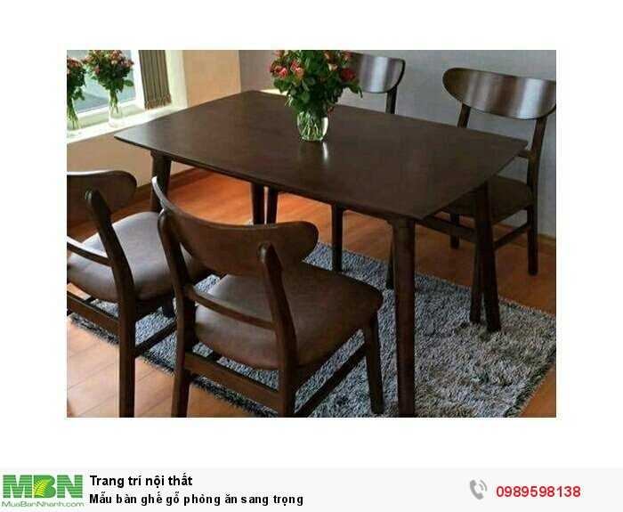 Mẫu bàn ghế gỗ phòng ăn sang trọng1