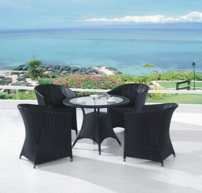 bàn ghế mây nhựa cafe  giá rẻ tại xưởng sản xuất 0006700
